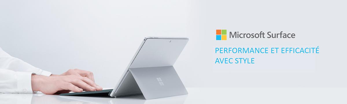 Microsoft surface Performance et efficacité avec style